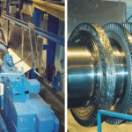 Turning operations. Combined high pressure / intermediate pressure Steam Turbine Rotor