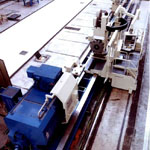 Turning and milling center for propeller shafts